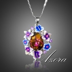Multicolour Gorgeous Flower Butterfly  Austrian Swarovski Element
