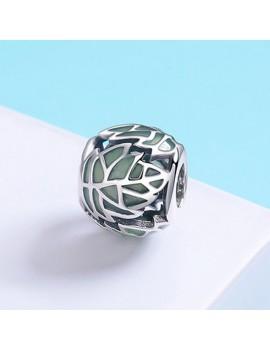 Talisman Argint Frunza Verde