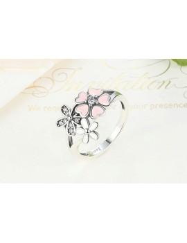 Inel de Argint 925 Pink Flower