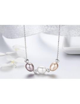 Lant de Argint 925 cu perle...
