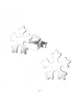 Cercei argint- Fulg de nea 03