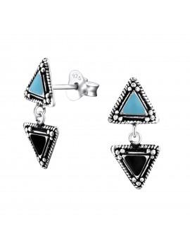 Cercei Argint 925 Triunghiuri
