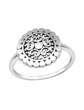 Floare  - Inel simplu argint