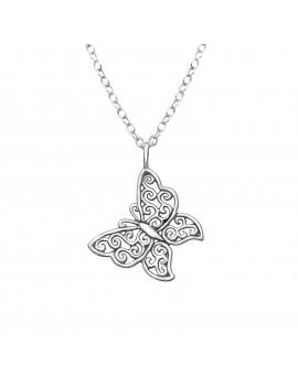 Fluture- lantisor argint