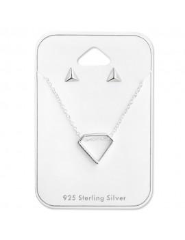 Set geometric din argint