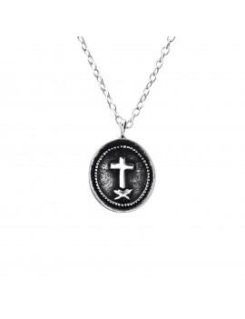 Cross Coin- Lantisor argint...