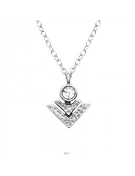 Geometric - Lantisor Argint