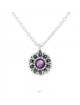 Floare cu Opal - Lantisor...