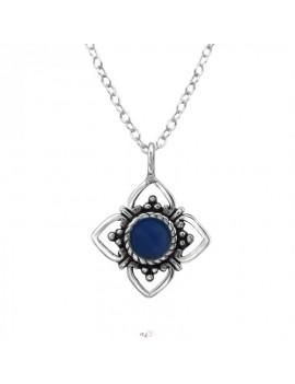 Floare - Lantisor argint