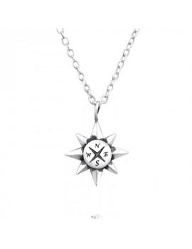 Busola - Lantisor argint cu...